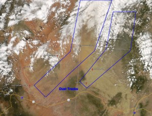 Satellite Imagery of Dust Storm