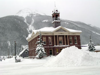 Town Hall in Silverton after January 2010 Storms